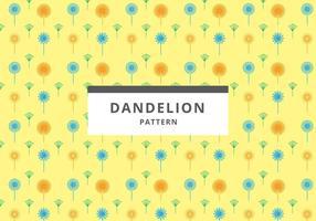 Gratis Dandelion-Muster-Vektor vektor