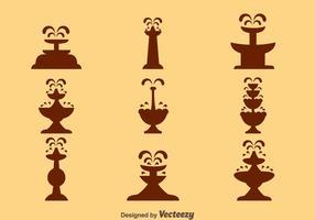 Choklad fontän siluett vektorer