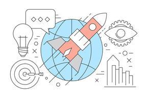 Insamling av Startup i Vector