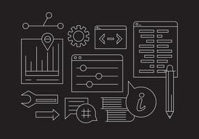 Online Support och informations Vector Icons