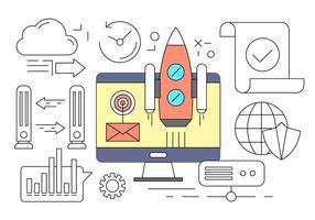 Free Business Startup-Konzept in Vektor