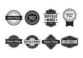 Buffalo Gratis und Chicken Wings Abzeichen Vektor