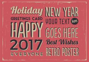 Weihnachten und Neujahr Klassische Ferien Vektor