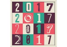 2017 retro mönster vektor