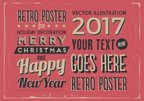 Weinlese-Feiertags-Vektor-Zeichen vektor