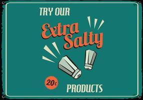 Retro Salzige Lebensmittel-Zeichen