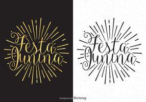 Festa Junina Kalligraphie-Beschriftungs-Vektor