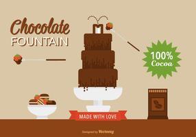 Platt Choklad fontän vektor