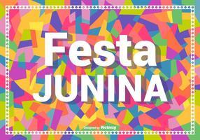 Färgrik Festa Junina Vector Bakgrund