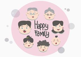 Familia Face Vektorer