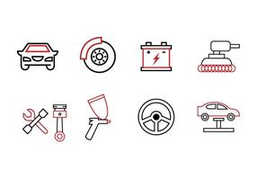 Garage ikoner vektor