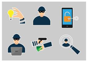 Vektoren Hacking und Technologie-Diebstahl