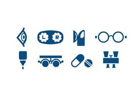 Ögonvård Icon vektorer