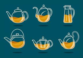 Minimalist Glas Teekanne Vektor