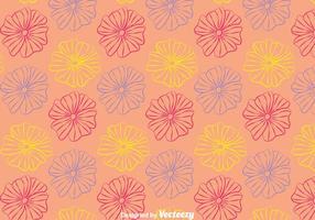 Linie Petunia Blumen-Muster-Hintergrund vektor