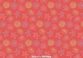 Linie Blumen-Muster-Vektor vektor
