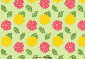 Gelb und Rosa Petunie-Muster-Hintergrund vektor