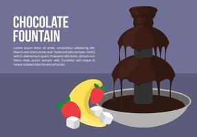 Choklad fontän med frukt vektor