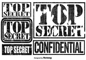 Vector Top Secret Briefmarken Set