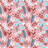 färgglada blommor sömlösa mönster vektor