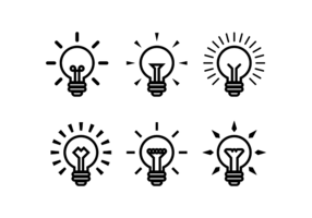 Birnen Ampoule Vector Icon Set