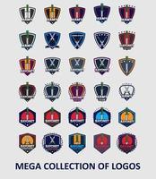 Sammlung von Bajonett-Logo-Vorlagen vektor