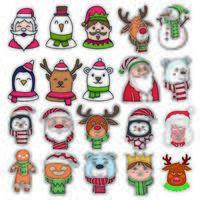 uppsättning julkaraktärer