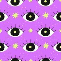 buntes Muster mit Augen auf Rosa vektor