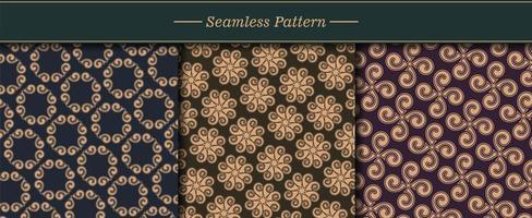 Luxus Muster Textur Set vektor