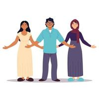 grupp människor tillsammans, mångfald eller mångkulturell