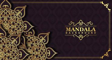Luxus Golden Mandala Hintergrund Konzept vektor