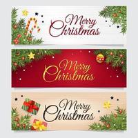 Weihnachtsdekoration Web Banner vektor