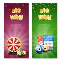 Lotterie Vorlage Banner Set
