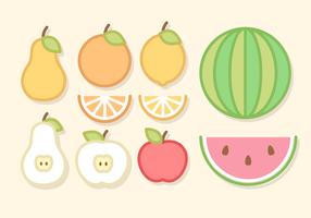 Linje Art Fruit Vektor