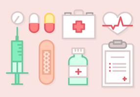 Linje Art Medical Elements Vektor