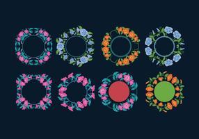 Jahrgang Petunia Blumen, Kreis Blumenstrauß vektor
