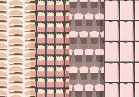 Vector Set von Fast Food Seamless Patterns
