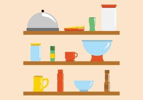 Moderne helle Küche-Ware-Vektoren vektor