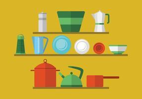 Retro Küchenutensilien vektor