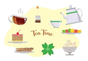 Hög Tea Time vektorer