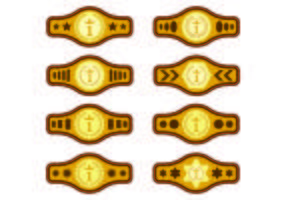 Inställda Championship Belt vektorer