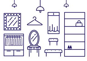 Skizzieren Icon Ankleidezimmer Vektor