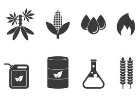 Bio Diesel Icons vektor
