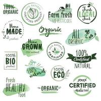 Bio-Lebensmittel Zeichen vektor