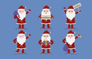 Santa Claus Charaktersammlung vektor
