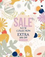 abstraktes Blatt neuer Verkaufswebsite-Banner