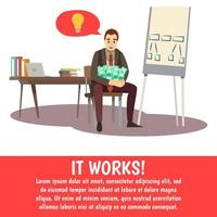 coaching och affärsutbildning mall banner vektor