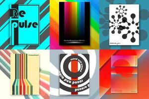 uppsättning omslag med abstrakt design