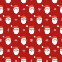 nahtloses Muster von Weihnachtsmann und Schneeflocke