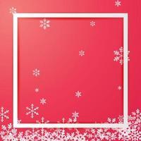 Weihnachtsrahmenentwurf mit Schneeflocken und Kopierraum vektor